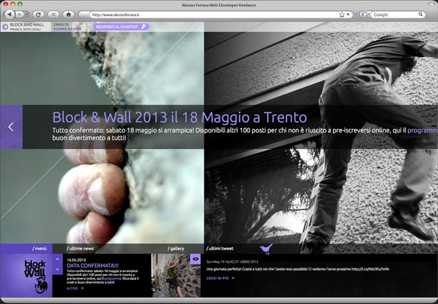 Block and Wall, urban boulder contest a Trento